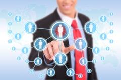 Appuyer sur les boutons sociaux modernes Image libre de droits