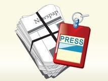 Appuyez la carte d'identification Photos libres de droits