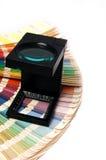 Appuyez le management de couleur photo stock