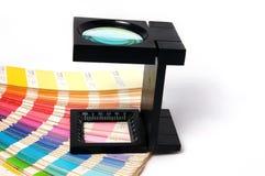 Appuyez le management de couleur Photographie stock libre de droits