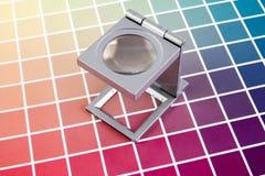 Appuyez le management de couleur Image stock