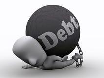Appuyez par Debt Photographie stock libre de droits