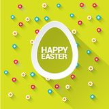 Appy Easter background and egg. Stock Photos