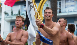 Appy guys at Gay pride parade in Sitges Stock Photo