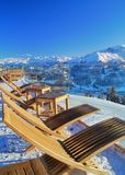 Après Ski Lounge Stockfotos