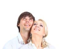 Après avoir embrassé le regard Photo libre de droits