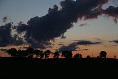Après coucher du soleil de tempête Photos stock
