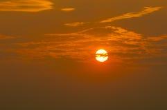 Après coucher du soleil, les nuages Photo libre de droits