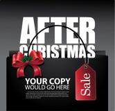 Après la disposition de sac de vente de Noël Image stock