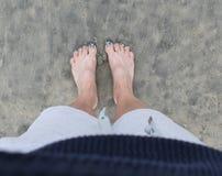 Après la marée Photos stock