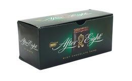 Après le chocolat huit photographie stock libre de droits