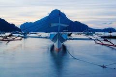 Après le coucher du soleil (EL Nido, Philippines) Image stock
