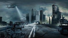 après le tremblement de terre Photographie stock libre de droits