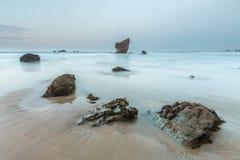 Après-midi à la plage d'Aguilar Photo stock