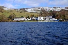 Après-midi anglais d'hiver de secteur de lac Photographie stock libre de droits