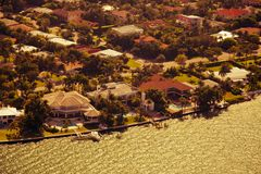 Vue aérienne de Miami Photo stock
