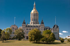 Après-midi de capitol de Hartford le Connecticut Photos libres de droits
