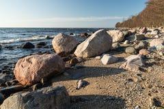 Après-midi de ressort sur la côte Photographie stock