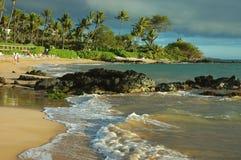 Après-midi du sud de rivage, Maui photographie stock