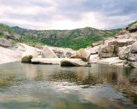 Après-midi sur la rivière calmée de Panaholma Image libre de droits