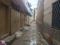 Après pluie la vue de rue photo stock