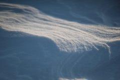 Après tempête arctique Tir en gros plan de désert de neige à Odessa Image stock
