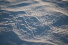 Après tempête arctique Tir en gros plan de désert de neige à Odessa Photo libre de droits