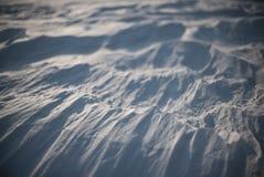 Après tempête arctique Tir en gros plan de désert de neige à Odessa Images stock