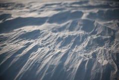 Après tempête arctique Tir en gros plan de désert de neige à Odessa Images libres de droits