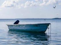 Après un jour de la pêche dans la sérénité des Caraïbes Image libre de droits