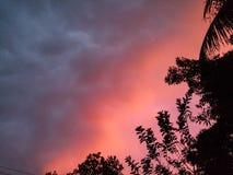 Après une tempête l'état du ciel Image libre de droits