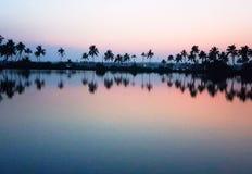 Après vue de coucher du soleil Photo libre de droits