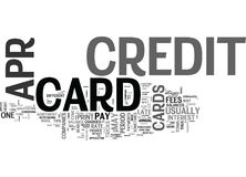 Apr Credit Cards Ok What S The Catch Word Cloud Royalty Free Stock Photo
