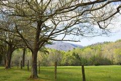 Apra i campi della baia di Cades in primavera. Fotografia Stock