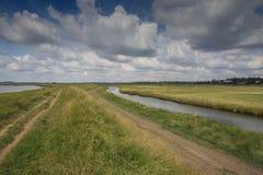 Apra i canali navigabili della Suffolk Fotografie Stock Libere da Diritti