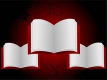 Apra i libri Immagine Stock