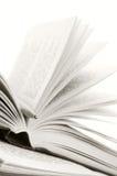 Apra i libri e la penna Immagine Stock