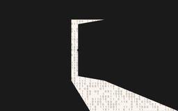 Apra il backdoor in una parete nera Fotografia Stock