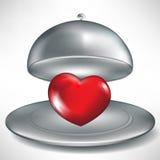 Apra il cassetto di approvvigionamento con cuore rosso royalty illustrazione gratis