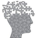 Apra il cervello di puzzle Fotografia Stock Libera da Diritti