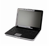 Apra il computer portatile Immagini Stock