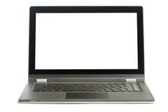 Apra il computer portatile in bianco Immagine Stock