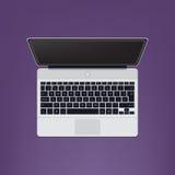 Apra il computer portatile moderno Immagini Stock