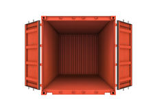 Apra il contenitore del metallo isolato su fondo bianco royalty illustrazione gratis