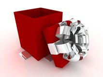 Apra il contenitore di regalo. illustrazione vettoriale