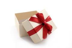 Apra il contenitore di regalo Fotografie Stock