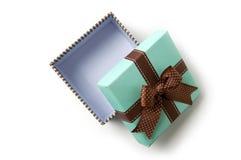 Apra il contenitore di regalo Immagine Stock