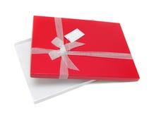 Apra il contenitore di regalo rosso Fotografie Stock Libere da Diritti