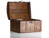 Apra il contenitore di tesoro fotografie stock libere da diritti