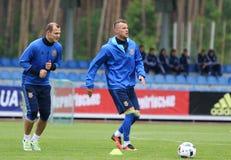 Apra il corso di formazione della squadra di football americano del cittadino dell'Ucraina Fotografia Stock